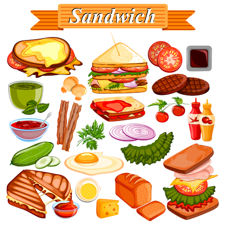 food ingredient: Food and Spice ingredient for Sandwich