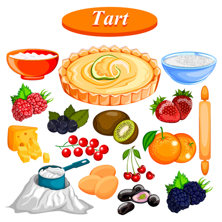 Food and Spice ingredient for fruit Tart