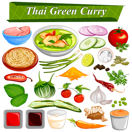 food ingredient: Food and Spice ingredient for Thai Green Curry