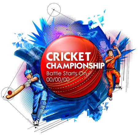 Et Batsman chapeau melon jeu sport championnat de cricket. Banque d'images - 76150333