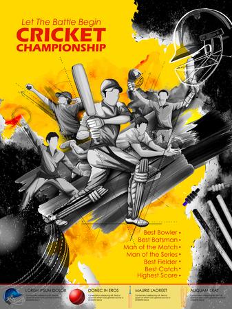 Batsman e bowler che giocano i campionati del cricket. Archivio Fotografico - 76150352