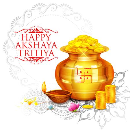 Akshay Tritiya viering Stock Illustratie