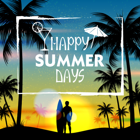 beach party: Summer time poster wallpaper for fun party invitation