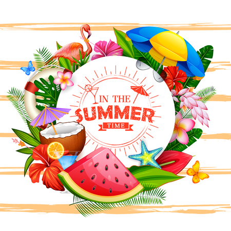 estate: In the summer time poster wallpaper for fun party invitation