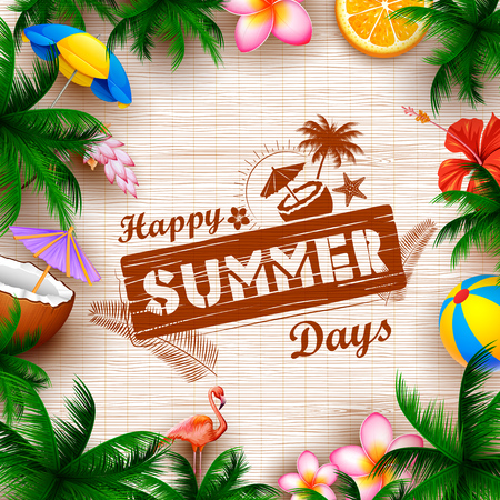 Summer time poster wallpaper for fun party invitation banner template