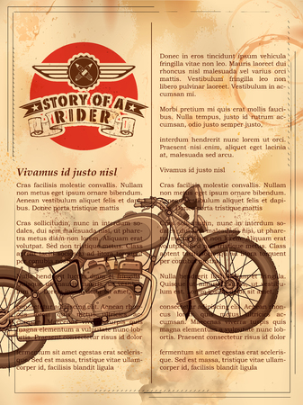 articles: Vintage motorcycle on retro background