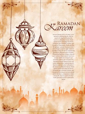 Ramadan Kareem Generous Ramadan greetings for Islam religious festival Eid on holy month of Ramazan