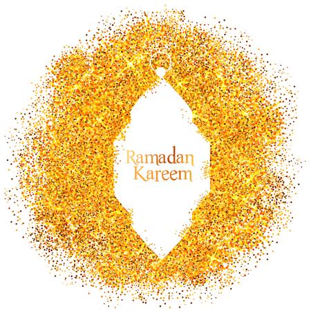 Ramadan Kareem Generous Ramadan greetings with illuminated lamp