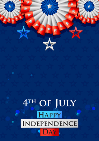 nationalism: Fourth of July background for Happy Independence Day of America