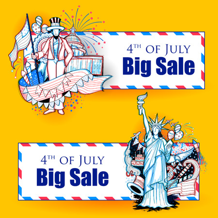 happy holidays: 4th of July Independence Day of America promotional advertisement background