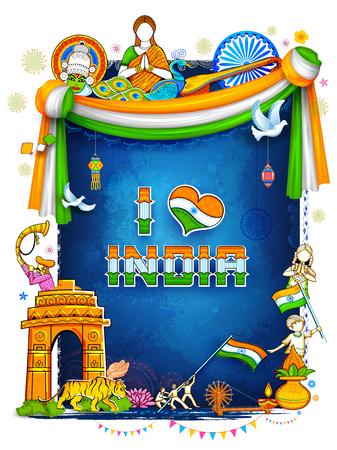 기념비, 춤 축제와 함께 놀라운 문화와 다양성을 보여주는 인도 배경