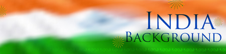 Abstract tricolor Indian flag background for Happy Independence Day of India