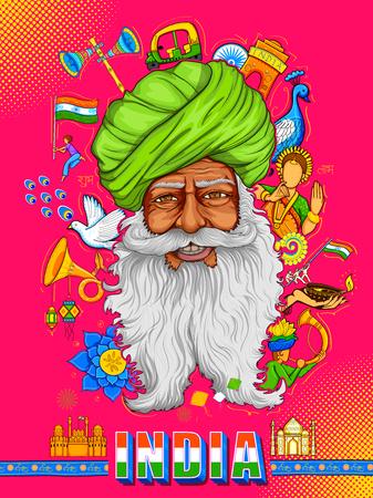 Indischer Hintergrund zeigt seine unglaubliche Kultur und Vielfalt mit Denkmal, Tanz und Festival Feier für 15. August Independence Day of India Standard-Bild - 82828472