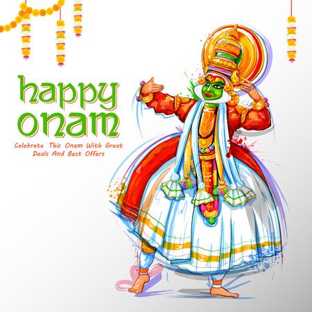 sravanmahotsav: Kathakali dancer on advertisement and promotion for Happy Onam festival of South India Kerala