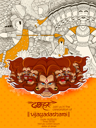 dashamukha: Ravana with ten heads for Dussehra