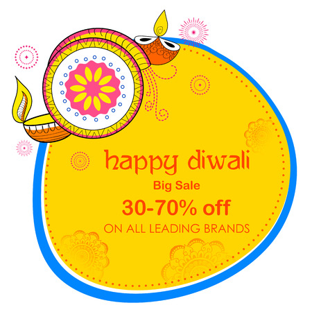 diwali celebration: Happy Diwali Holiday Sale promotion advertisement background for light festival of India