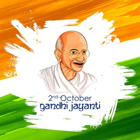 illustration of India background for 2nd October Gandhi Jayanti Birthday Celebration of Mahatma Gandhi