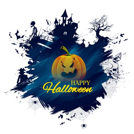 Happy Halloween holiday night celebration background