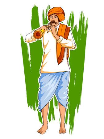 562 indian farmer stock vector illustration and royalty free indian rh 123rf com farmer cartoon farm clipart background