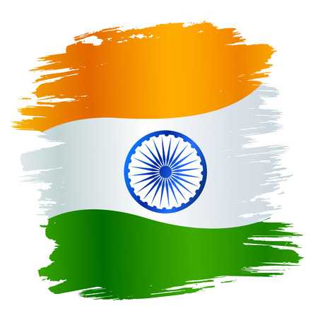 Tricolor Indian Flag background for Republic  and Independence Day of India