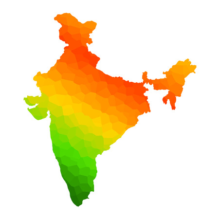 Tricolor Indian Flag map background for Republic and Independence Day of India Illustration