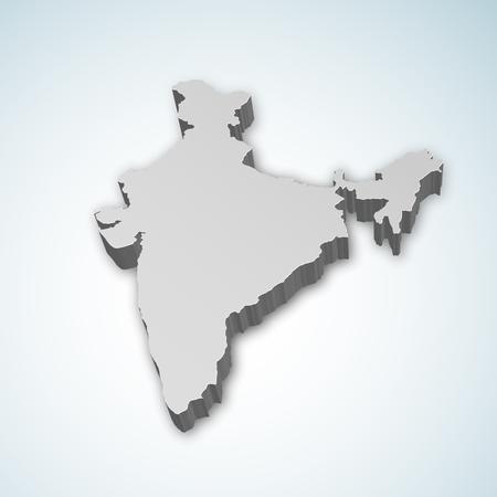 Ausführliche Karte 3d von Indien, Asien Standard-Bild - 92353639
