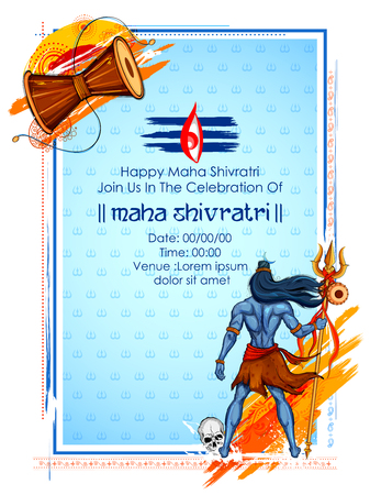 illustration of Lord Shiva, Indian God of Hindu for Shivratri