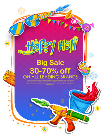 Happy Holi Advertisement Promotional backgroundd for Festival of Colors celebration greetings