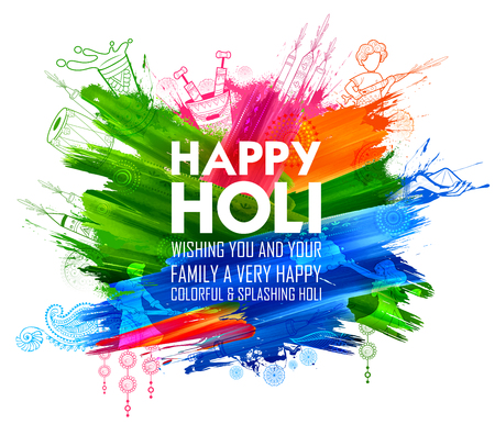 Happy Holi Background for Festival of Colors celebration greetings