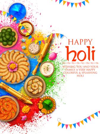 Gulal w kolorze pudrowym dla Happy Holi Background