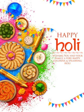 Powder color gulal for Happy Holi Background
