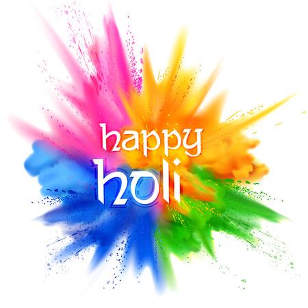 fond holi heureux pour le festival de couleur de l & # 39 ; événement célébration religieuse Vecteurs