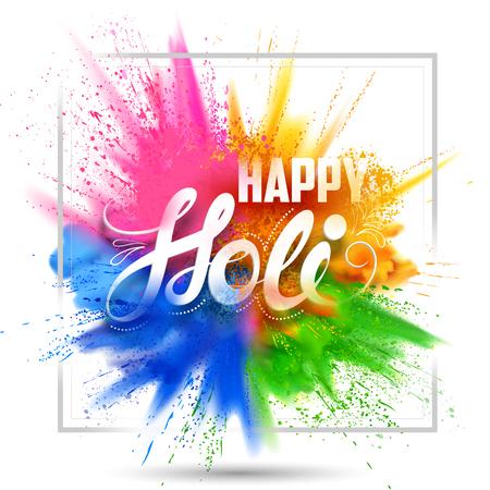 fond holi heureux pour le festival de couleur de l & # 39 ; événement célébration religieuse