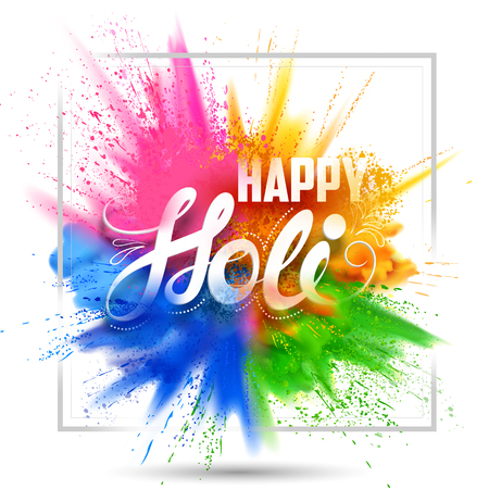 Happy Holi background for color festival of India celebration greetings