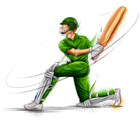 illustration of batsman playing cricket championship sports Çizim