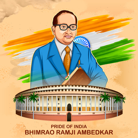 Dr Bhimrao Ramji Ambedkar with Constitution of India for Ambedkar Jayanti on 14 April