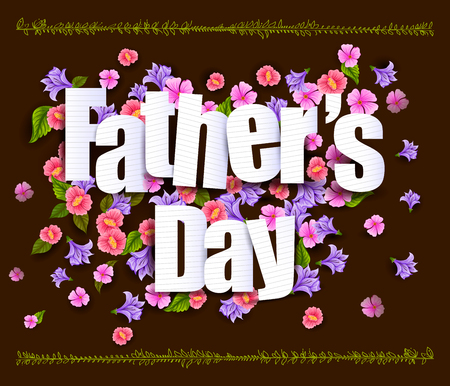 Happy Fathers Day greeting card Illustration