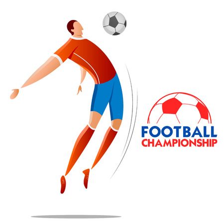 Football Championship Cup soccer sports background for 2018 Illustration