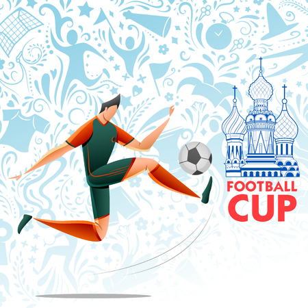 Football Championship Cup soccer sports Russia background for 2018