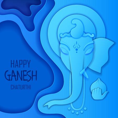 Lord Ganpati background for Ganesh Chaturthi festival of India Vektorové ilustrace