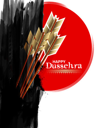 Arrow of Rama in Happy Dussehra festival of India background