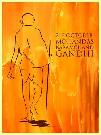 India background with Nation Hero and Freedom Fighter Mahatma Gandhi for Independence Day or Gandhi Jayanti