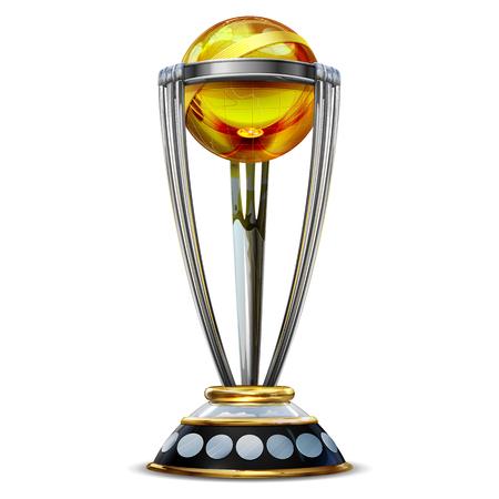 Trophée de la Coupe du monde de cricket réaliste sur plaine Vecteurs