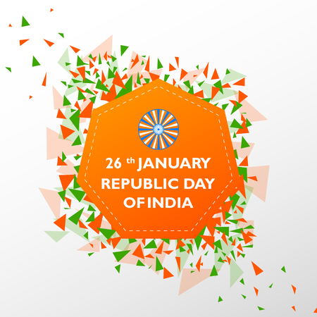 Sale Promotion Advertisement banner for 26th January, Happy Republic Day of India Stock Photo