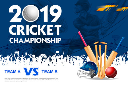Batsman playing cricket championship sports 2019