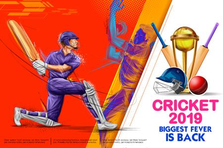 Batteur jouant aux sports de championnat de cricket 2019