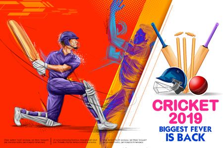 Batsman playing cricket championship sports 2019