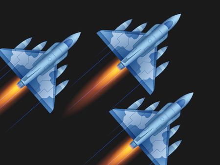 Aerospace demonstration  イラスト・ベクター素材