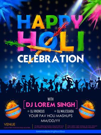 Happy Holi celebration Illustration