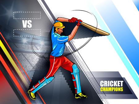 Spieler-Schlagmann im Cricket-Meisterschaftsturnier
